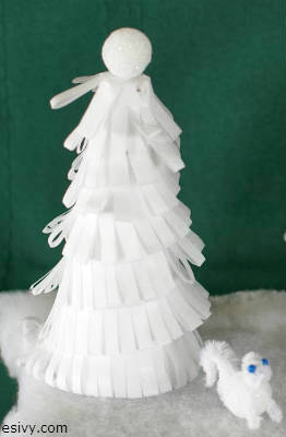 Winter craft ideas for kids: styrofoam christmas tree
