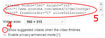 how to delete recommended videos on youtube video in wordpress