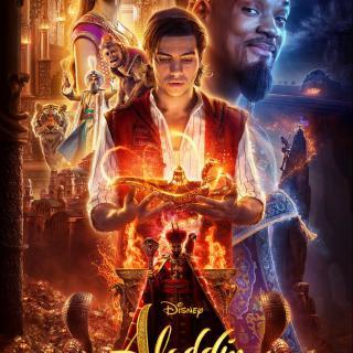 Disney Aladdin Poster 2019 Impish grin on Will Smith as the Genie. #Aladdin