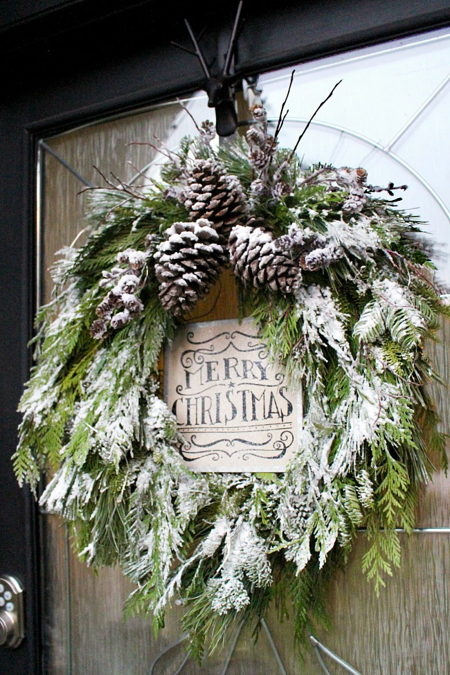 This gorgeous Greenery Wreath is on of my 12+ favorite Christmas Wreath tutorials. Learn how to make wreaths to decorate your home, everywhere from your front door to your kitchen! The wreaths use everything from fresh evergreens to puzzle pieces (a genius way to save money when you make your wreath. You gotta see it!) and everything in between. Check it out to get some fabulous ideas.