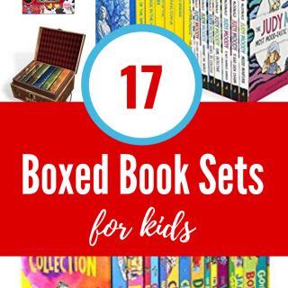 These giant boxed book sets make great Christmas gifts for kids. Boxed sets make reading fun for even reluctant readers.  Some of these are classic children's book series. Others are current popular elementary school books series and others work better for older kids and teens. All of these book series are well loved by my own kids.