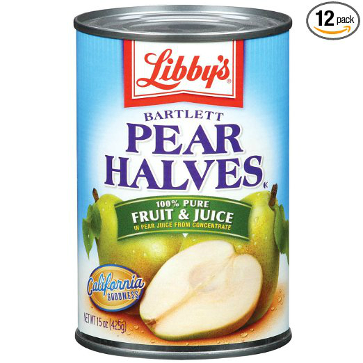 Pear halves in Juice