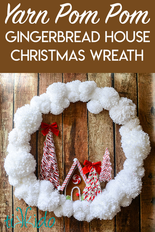 12+ of my favorite Christmas wreath tutorials, including this Yarn Pom Pom and Felt Gingerbread House Wreath! Learn how to make wreaths to decorate your home, everywhere from your front door to your kitchen! The wreaths use everything from fresh evergreens to these puzzle pieces (a genius way to save money when you make your wreath. You gotta see it!) and everything in between. Check it out to get some fabulous ideas.