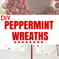 DIY: Directions for Easy make your own Christmas Peppermint Wreaths
