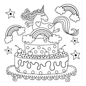 printable unicorn coloring pages # 19