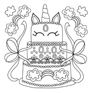 free unicorn coloring pages # 22