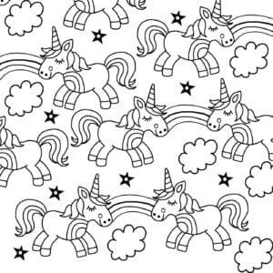 unicorn color pages # 34