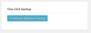 how to run a website backup in WordPress