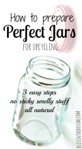 how to clean jars