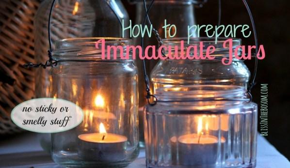 prepare jars