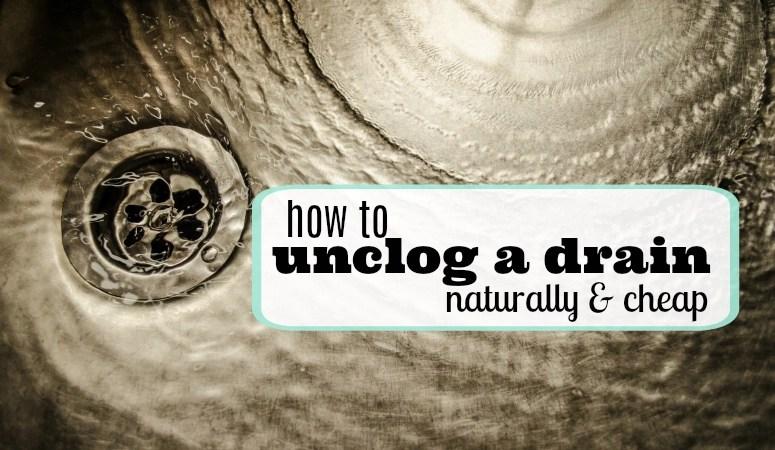 unclog a drain naturally