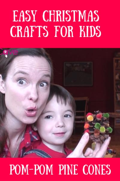 Easy Christmas Craft for Kids MomCave Pom Pom Pinecones
