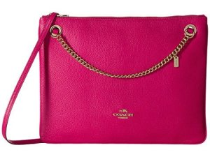 COACH Polished Pebble Leather Convertible Crossbody