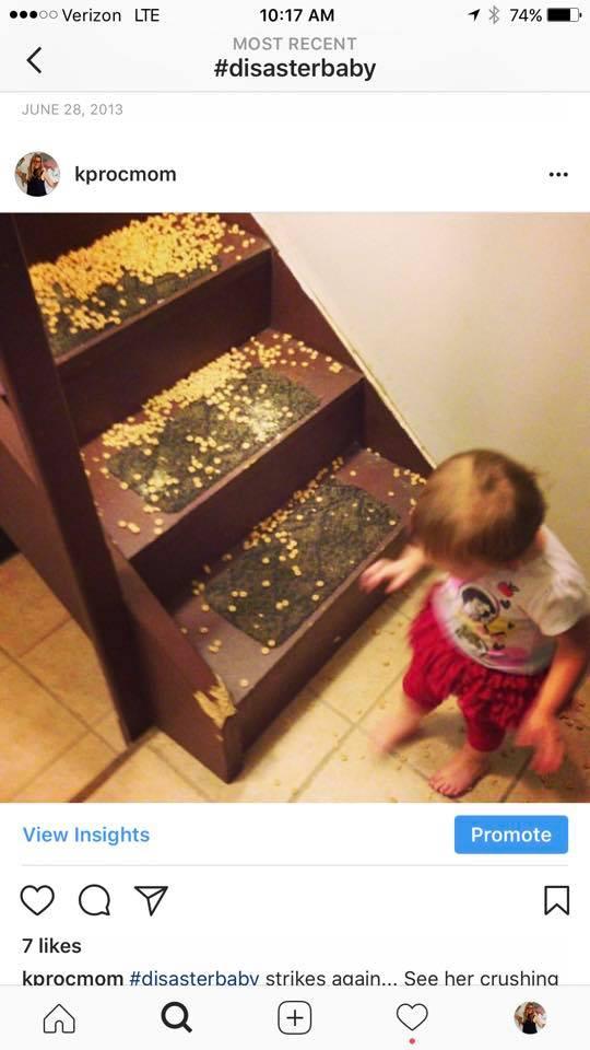 kids destroy things MomCave cheerios