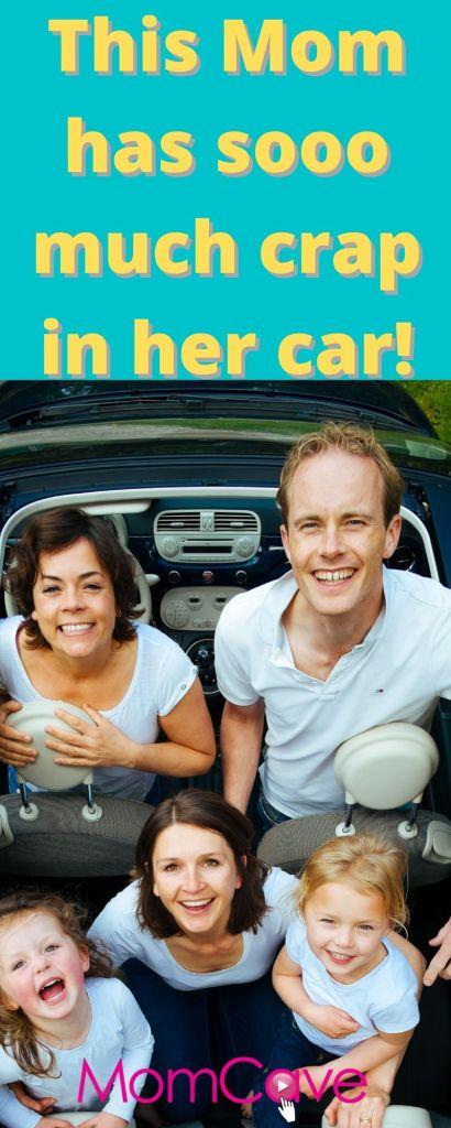 Mom Mobiles Stuff in Mom's Car Happy Family in Car MomCaveTV