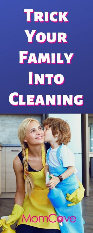 Mom and Son Cleaning Together Get Your Family to Clean