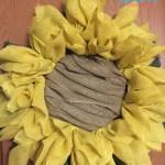Diy Sunflower Burlap Wreath Craft Mom Does Reviews
