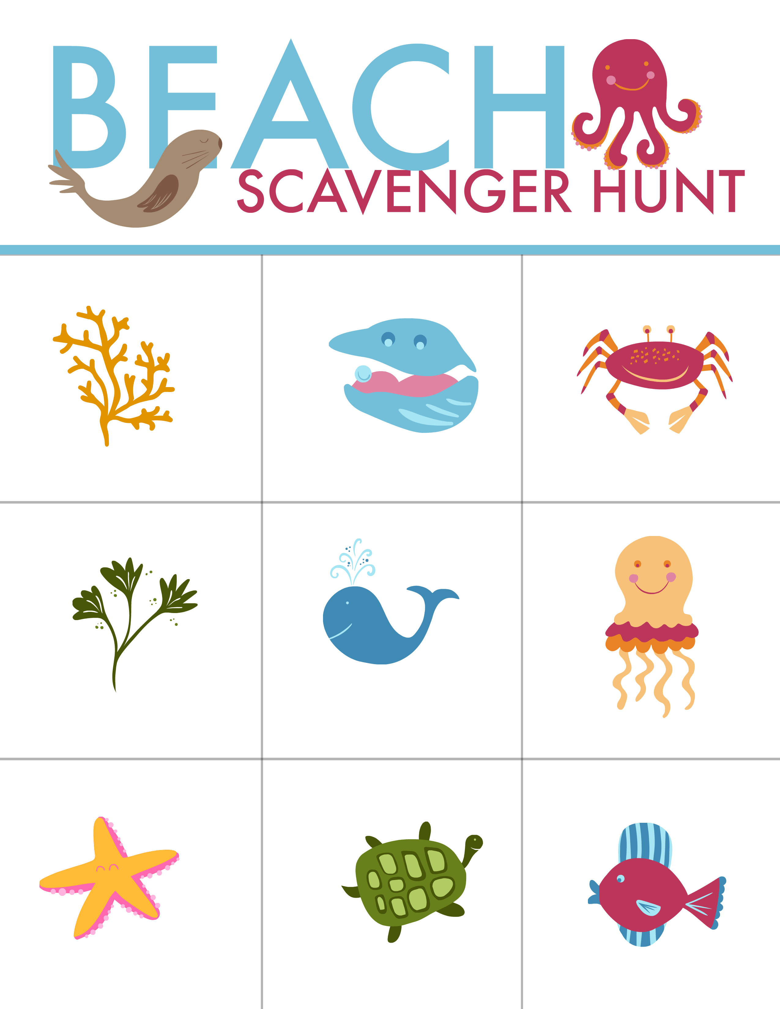 Summer Fun Beach Scavenger Hunt And The Best Beach Toys