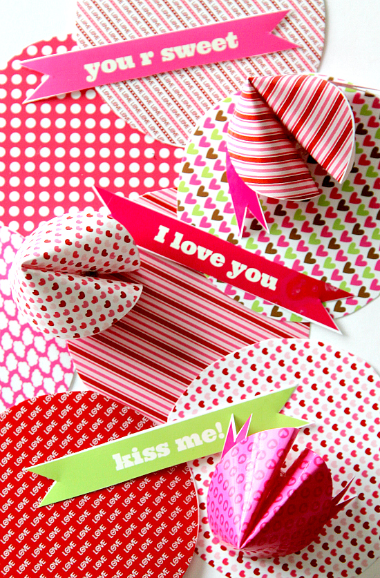 Fortune Cookie Printable Free Valentines Day Fortunes