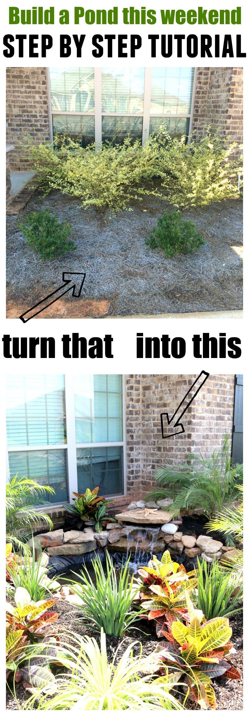 Build a Pond DIY on Front Yard Pond  id=52889