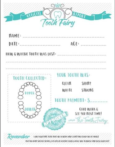 Tooth Fairy Free Printable Certificate
