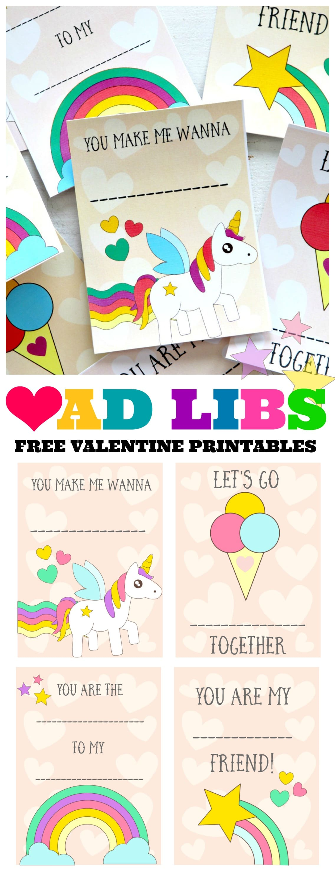 Ad Libs Free Valentines Day Printable Cards