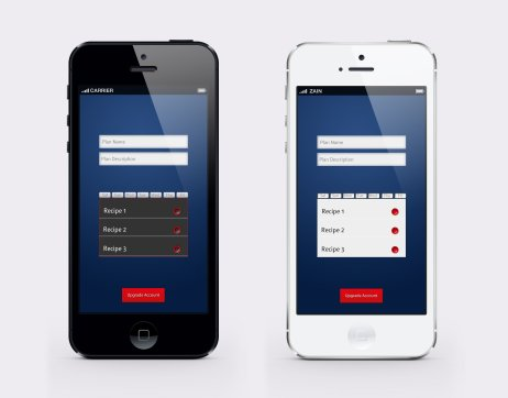 transformme app plan builder screen version 1 and2