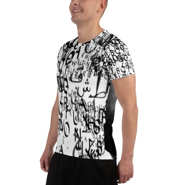abstract typography -1 -All-Over Print Men's Athletic-04