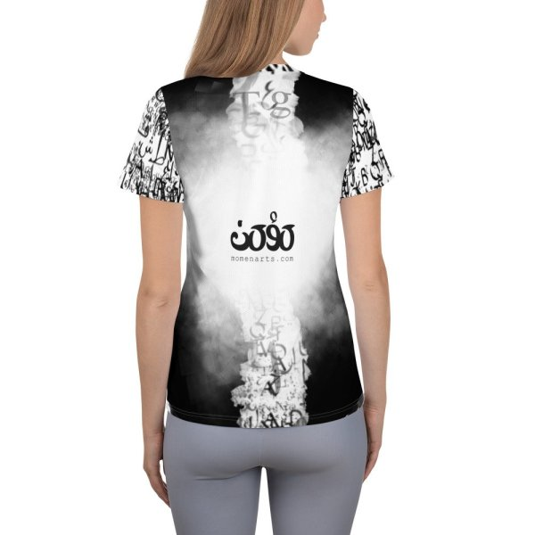 abstract typography -1 -All-Over Print Women's Athletic T-shirt-02