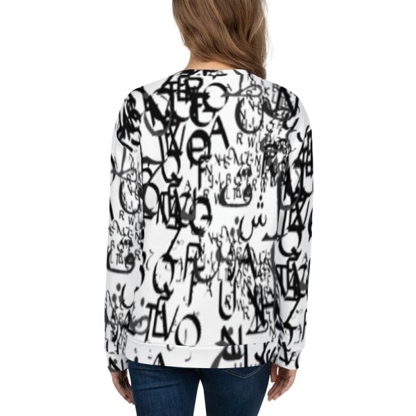 abstract typography -1 -Unisex Sweatshirt-02