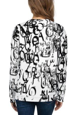abstract typography -1 -Unisex Sweatshirt-02
