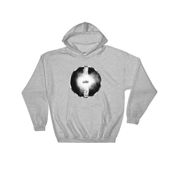 Letters fusion momenarts -Hooded Sweatshirt-gray