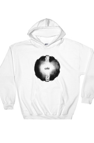Letters fusion momenarts -Hooded Sweatshirt-white