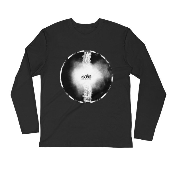 Letters fusion momenarts - Long Sleeve Fitted Crew -black