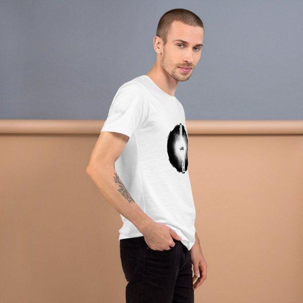 Letters fusion momenarts -Short-Sleeve Unisex T-Shirt-white-3