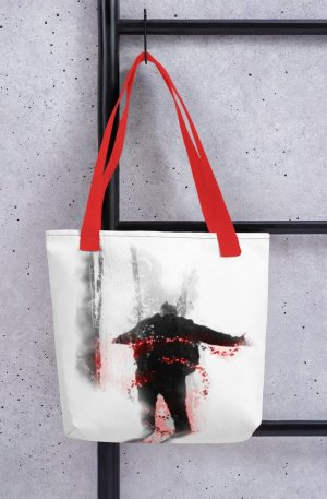 An inspiration moment -Tote bag-red