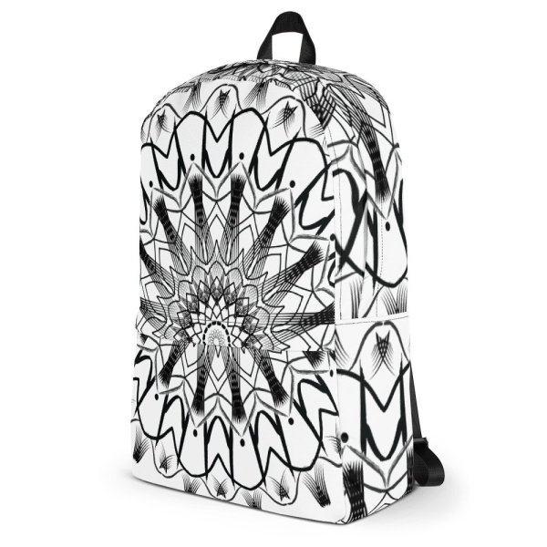 pattern mandala 01 -Backpack-black-on-white-03