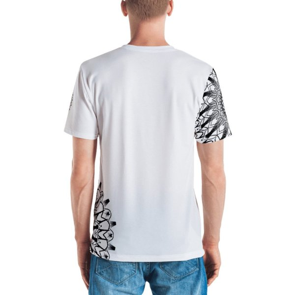 pattern mandala 01 -Men's T-shirt-black-on-white-back