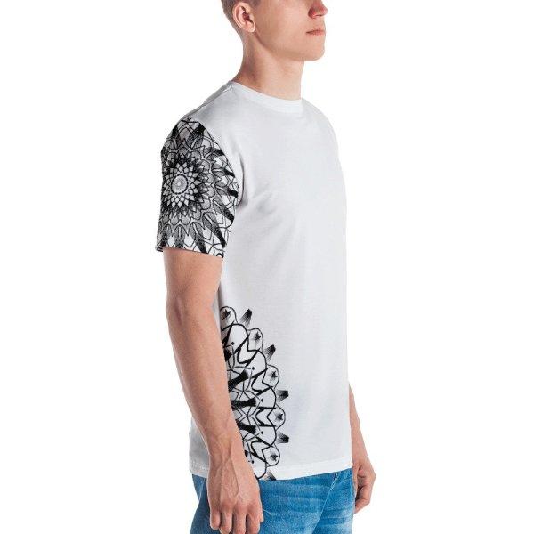 pattern mandala 01 -Men's T-shirt-black-on-white-left