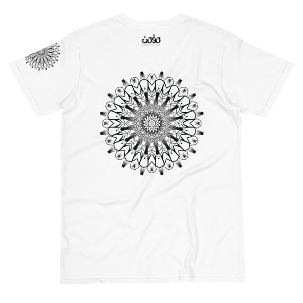 pattern mandala 01 -Organic T-Shirt-black-on-white-back