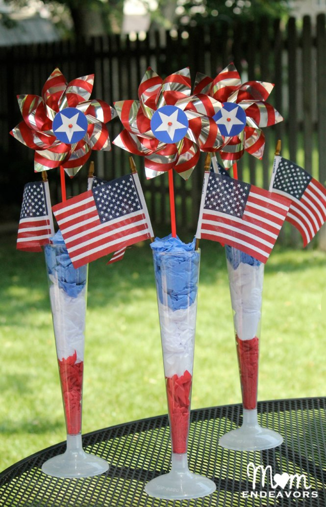Diy Red White And Blue Table Markers At Diyshowoff Com