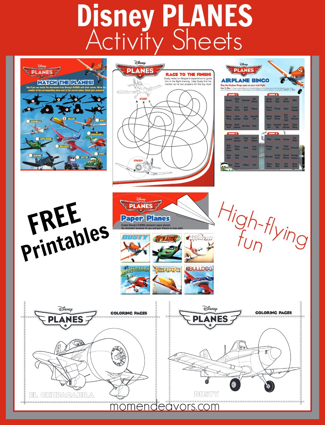 Free Printable Disney Planes Activities Amp Coloring Sheets