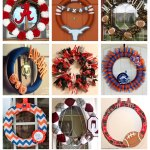 15 Diy Football Team Spirit Wreaths College Football Tailgate Link Party Mom Endeavors
