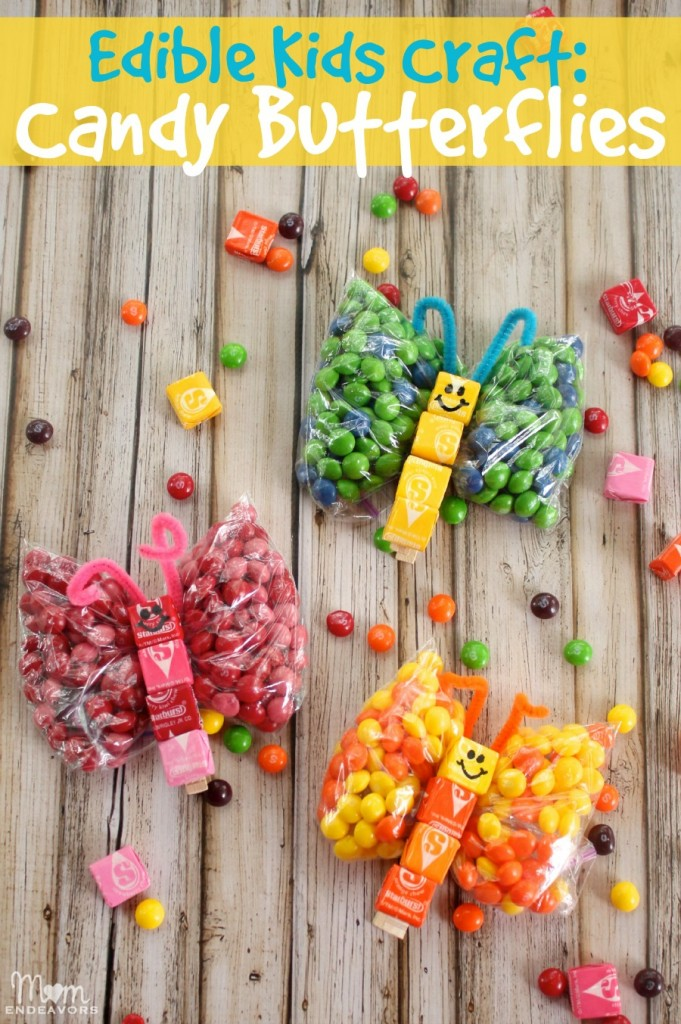 Edible Kids Craft Candy Butterflies