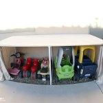 Covered Kiddie Car Parking Garage Outdoor Toy Organization Mom Endeavors
