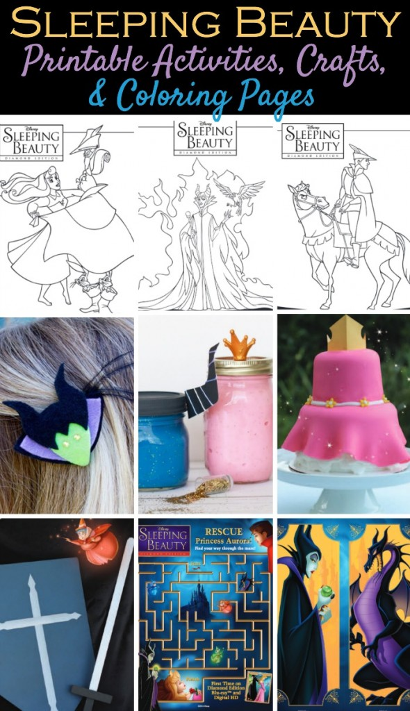 Disneys sleeping beauty printable activities coloring, coloring pages i love you mom