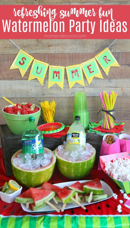 Summer Fun Watermelon Party Ideas Mom Endeavors