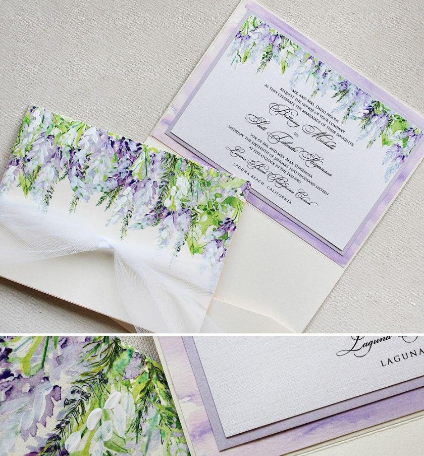 Pin It Lavender Fl Wedding Stationery