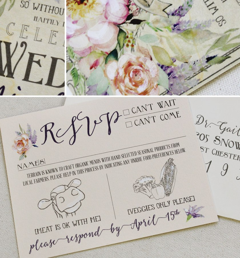 Pin It Rustic Fl Wedding Invitations