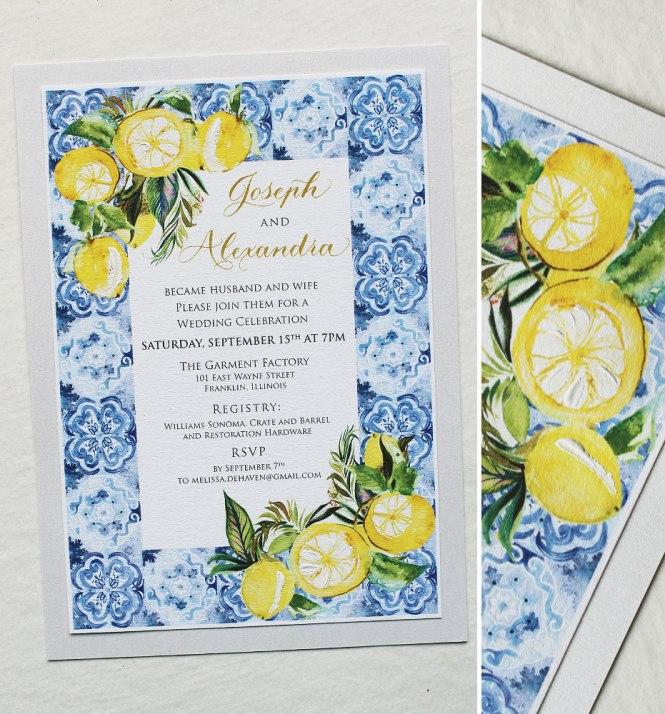 Allie D Watercolor Italy Destination Wedding
